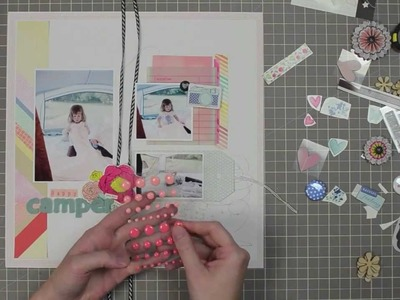 "Scrapbook Layout Process - ""Happy Camper"" - Citrus Twist Kits (Melissa Stinson)"