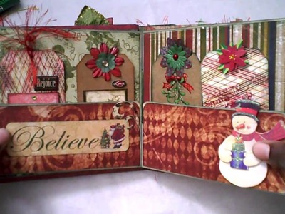 2010 File Folder Christmas Mini Album
