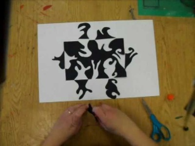 4th - 6th Grade Notan paper cut: Positive and Negative Space Design