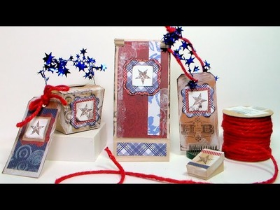 Americana Party Decor & Favors with Kraft Paper