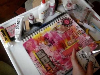 Art Journal Tutorial, finishing with collage Pt 1