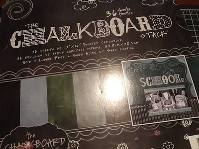 Bird Cage Chalkboard & Paper Stack Haul