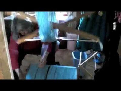 Blocking Hand Spun, Hand dyed wool yarn