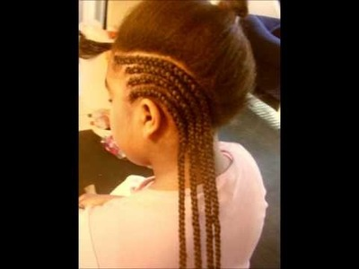 Braiding my daughter hair