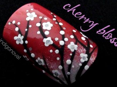 Cherry Blossom Nail Art Tutorial