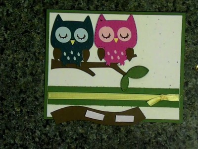 Cricut 'always on my mind' owl card  creat a critter cartridge