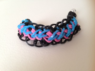 Criss cross over braid Rainbow Loom tutorial