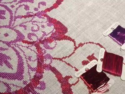Cross Stitch #7 - Tips & Tricks - DMC Satin Floss Tutorial - Flosstube