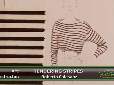 Fashion Art: How to hand render a black and white nautical stripe - Preview