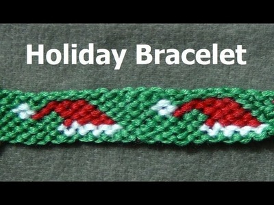 ► Friendship Bracelet Tutorial - Intermediate - Santa's Christmas Hat