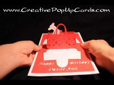 Gift purse Pop Up Card