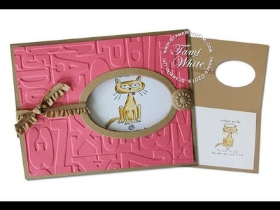 Giggle Greetings Framed Window Card featuring Stampin Up products