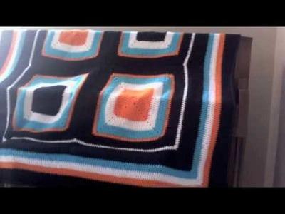 Glam Zitty: Multi-Color Granny Square Blanket