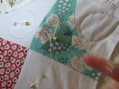 Hand Quilting 6 -- Skipping Over to a New Section