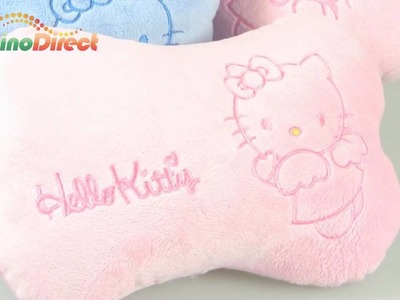 Hello Kitty Pattern Car Head Rest Cushion Pillow 2 Pcs - dinodirect
