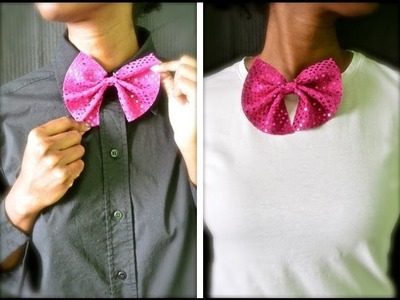 How to make a girly bow tie for women! | Nik Scott