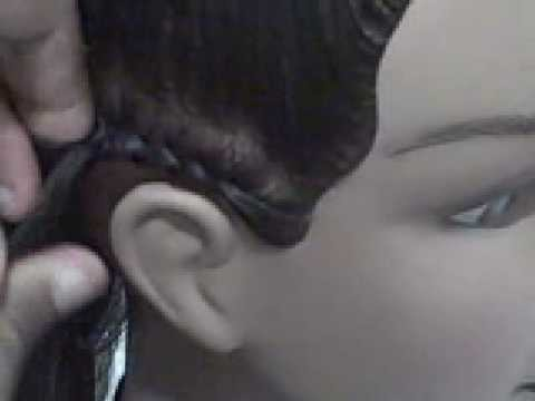 Learn How To Cornrow Hair--Easy To Follow. Simple Steps
