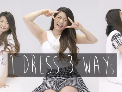 Lookbook | Styling 1 Dress 3 Ways for Spring w. Patterns - Fashion