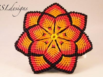 Macrame mandala flower
