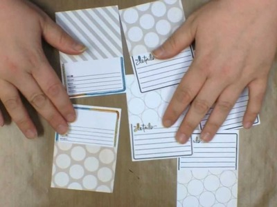 Making Your Own Journaling Cards by Teri Anderson - Technique Tuesday