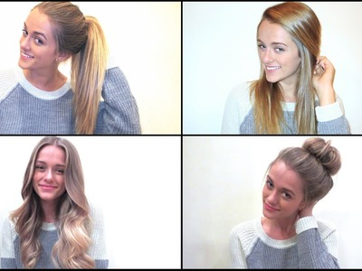 My 4 Quick & Easy Hairstyles