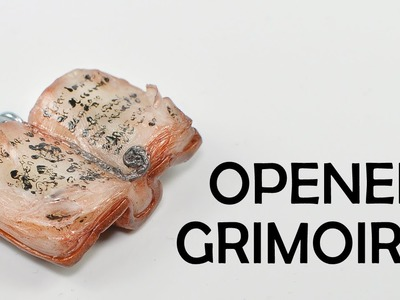 Opened grimoire - book of magic charm [TUTORIAL] - polymer clay