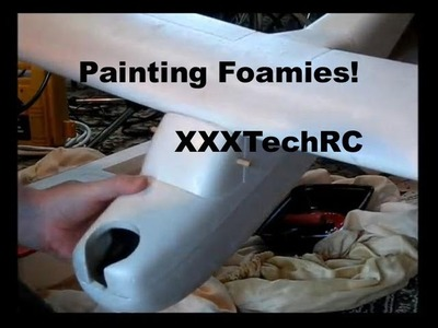 Painting Foamies! Experiments with paint and tape on our foam RC airplanes
