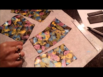 Polymer Clay Surface Decoration Acrylic Ink Effect.wmv