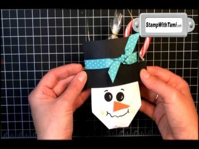 Snowman Soup Gift Pouch featuring Stampin Up products