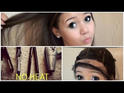Straight Hair with NO HEAT | Krazyrayray