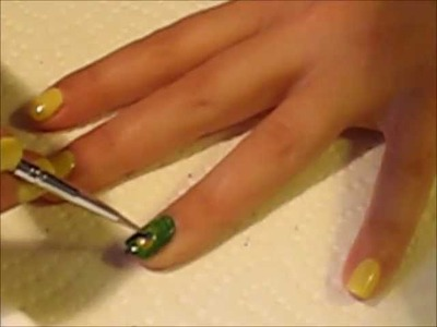 Super easy Peacock nails