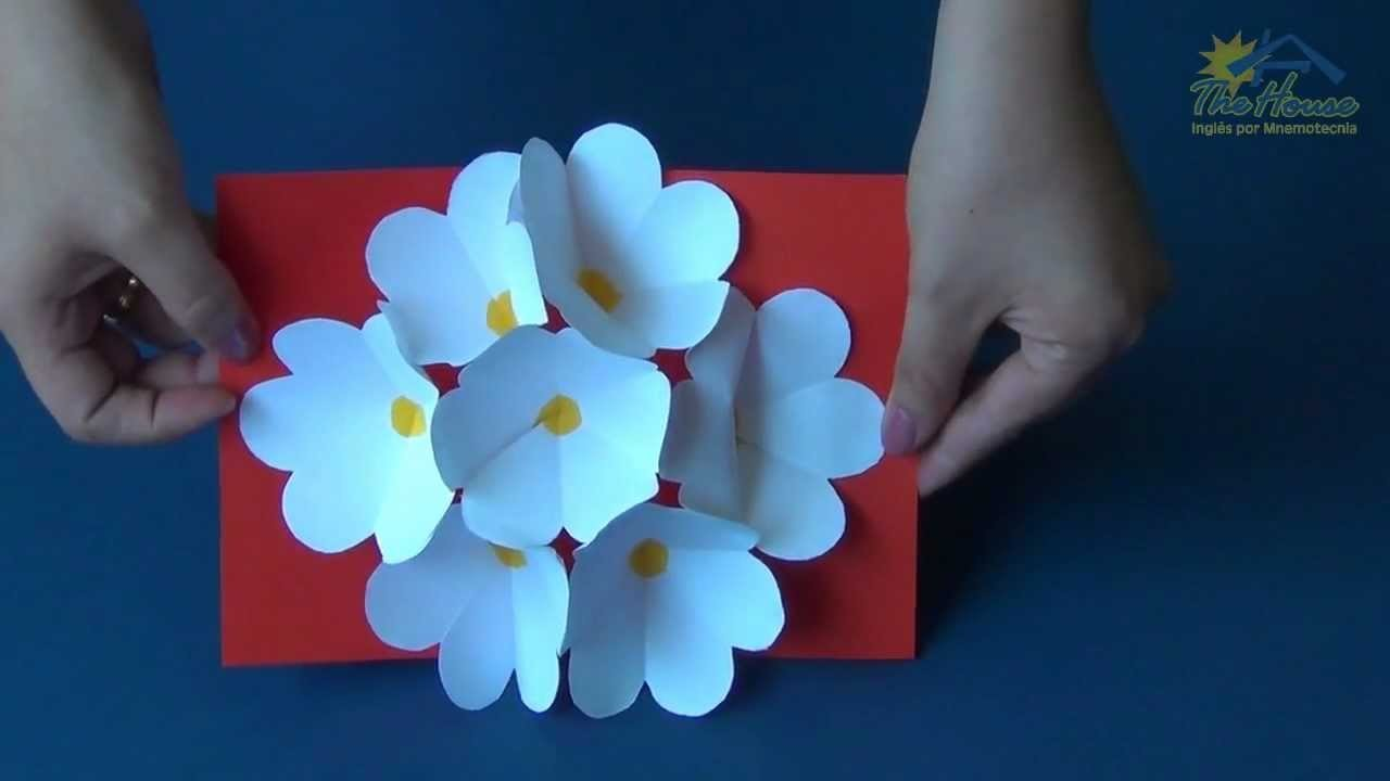 THE HOUSE PIRACICABA - 3D Flower Pop Up Card