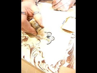 Tim Holtz demonstrating Distress Stickles for Scrapaholix - Part 1