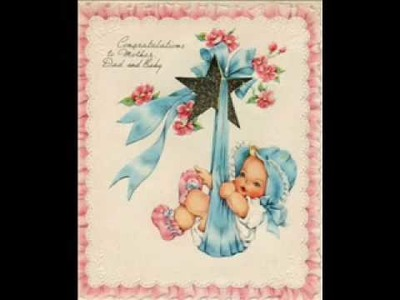Vintage Greeting Card Images New Baby Volume 1