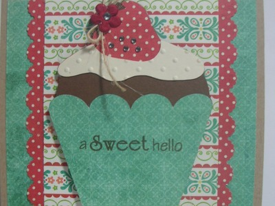 A Sweet Hello. .cupcake card