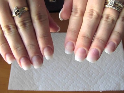 Adding length to your natural nail using tip extensions and gel polish