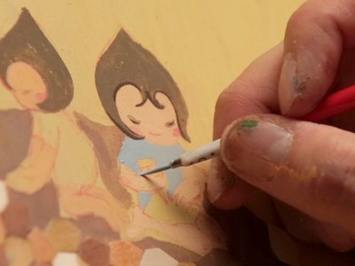 Art Attack. PROTECTION Mixed Media Timelapse by Jeni Yang