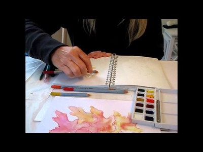Art Journal Tutorial - Watercolor pencils, Pan Watercolors