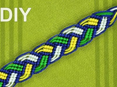 Braided Macrame Bracelet - Friendship bracelet - nice on both sides