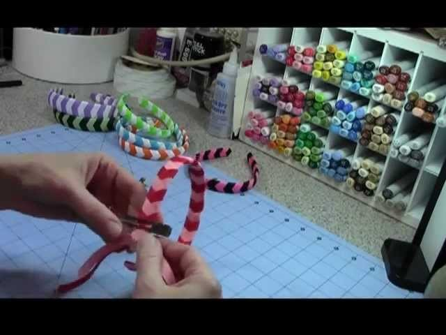 Chevron Woven Ribbon Headband Tutorial