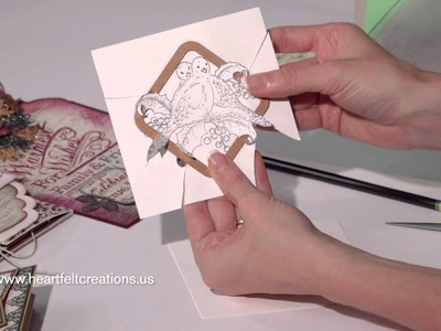 Christmas Card Making: Quick Dimension and Sparkling Backgrounds by Heartfelt Creations