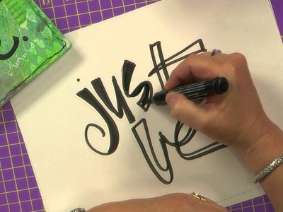 Cloth Paper Scissors Workshop DVD - Artful Lettering - Joanne Sharpe