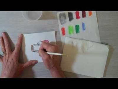 Darcie's Watercolor Pencil Technique