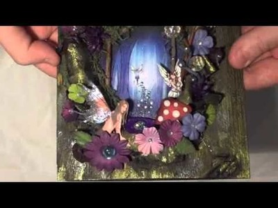 Fairy book cover using Creaboetiek book page cover tutorial