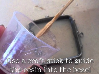 Fill an Open-Backed Bezel with ICE Resin
