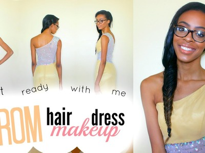 Get Ready With Me: Prom Edition 2015 | Makeup, Hair & Dress ♡ Lawenwoss