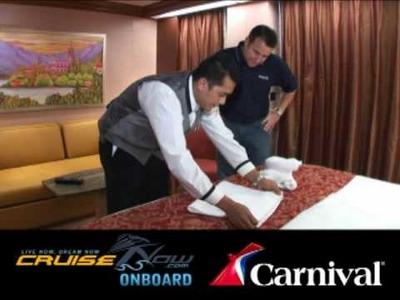 How do you make a cruise ship towel animal?