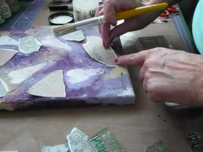 How to create a mixed media canvas part 2