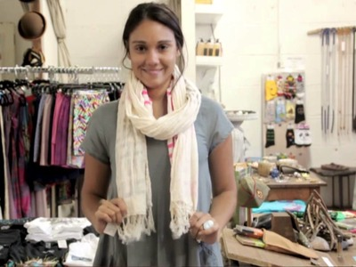 How to Fold Scarves Like a Hipster : Denim & Scarves, Oh My!