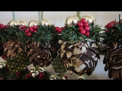 How To: Folded Fabric Pinecone Ornaments